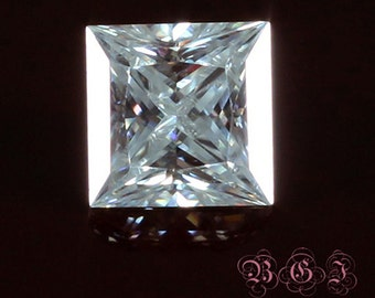Charles and Colvard Forever Brilliant 6.5MM 1.5 Carat Princess Cut Loose Gemstone with Certificate of Authenticity