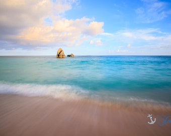 Freeform ~ Bermuda, Long Bay Beach, Pink Sand, Artwork, Beach Photography, Wall Art, Coastal, Home Decor, Ocean, Seascape, Tropical