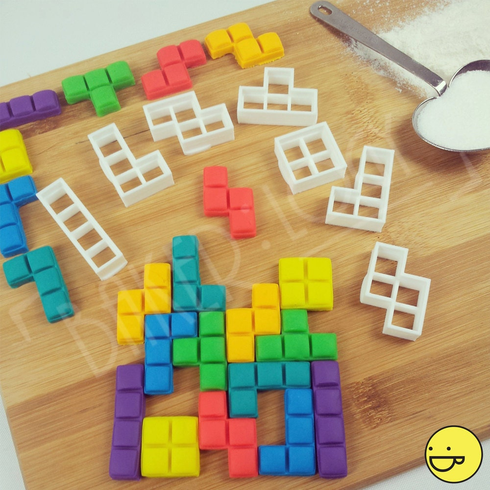 FULL set Tetris blocks inspired cookie cutters (7 pieces ...