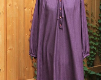 Vintage 1970s 80s Princess Diana Style Purple Shirt dress –Harold Axier original – Pour Vous Shirt Dress