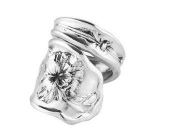 Spoon Ring, Carnation, Silver Spoon Jewelry, Handmade ring, Antique spoon ring, Spoon Jewelry, Silver ring, Silver Spoon Ring, Gifts