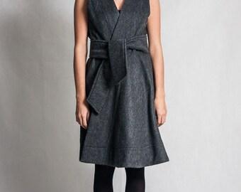 Fasada f/1580 gray wool waistcoat / overdress