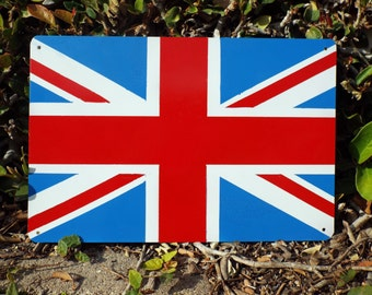 Union Jack Metal Sign Hand Made