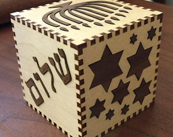 Hanukah Box can be personalized to make it The Perfect Gift!