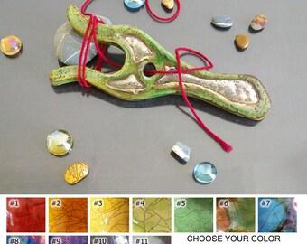 ceramic lucet, original ceramic knitting fork, yarn tool, braiding tool