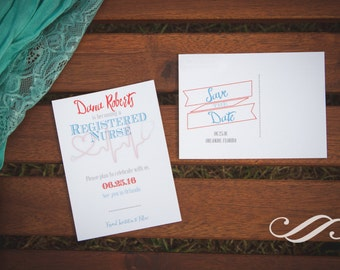 Registered Nurse Graduation Party Save-The-Date Postcard
