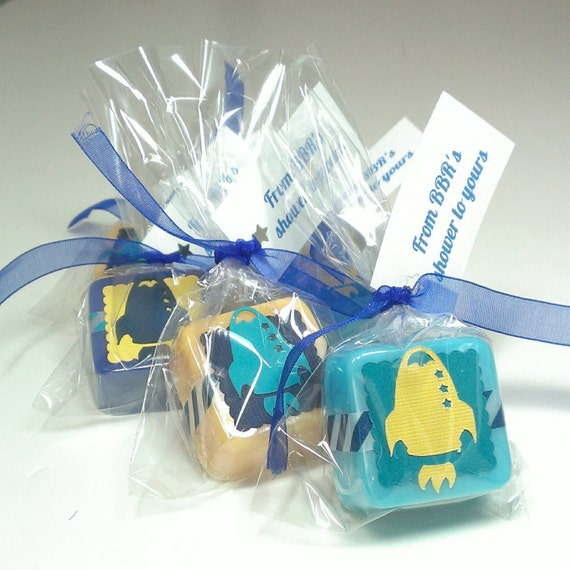 space baby shower favors rocket baby shower favors soap baby