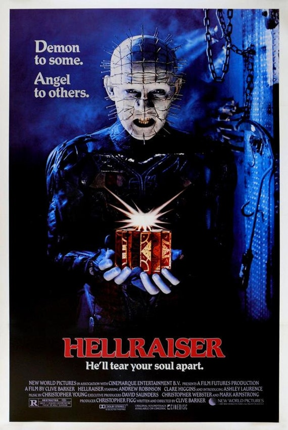 Hellraiser 1987 Movie Poster Stretched Art Canvas by ...