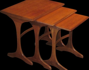 Mid-Century Modern Teak Nesting Tables - Set of Three