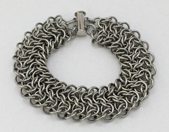 Elfsheet bracelet (2/3 width) in stainless steel