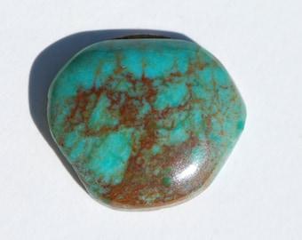 Natural Arizona turquoise, free form cabochon, 23.5 x 20mm