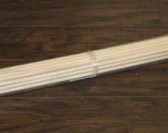 "Wooden Dowels 3/8"" x 36"" Lot of 25 New Free Shipping"