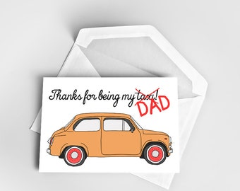 Father's Day Card, Greeting Card Father's Day, Thanks Dad Card, Funny Father's Day Card, Taxi Father's Day Card, Taxi Dad Greeting Card