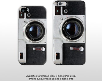iPhone vintage camera print phone case. Old School film camera hard cover for iPhone 6/6s iPhone 5 iPhone 4 T327