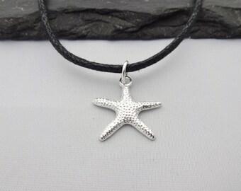 Starfish Choker, Starfish Necklace, Charm Necklace, Cord Necklace, Star Fish Necklace, Charm Choker, Star Fish Choker, Beach Necklace, Gifts