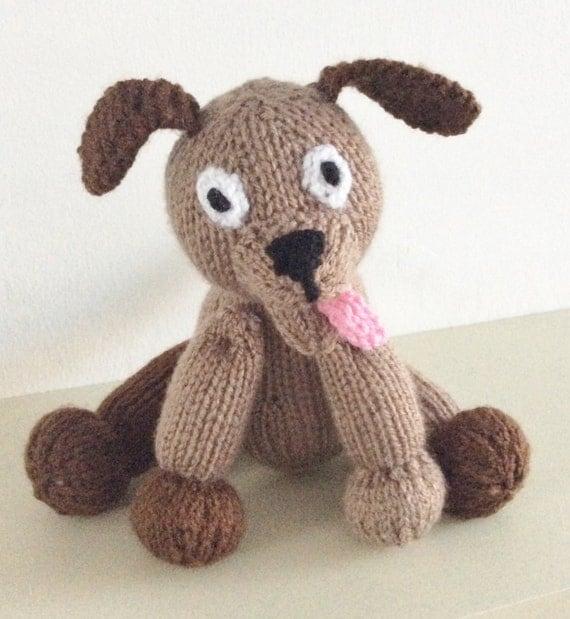 knitting pattern dog toy animal pdf download puppy knit pattern knit animal knitted  soft toy handmade gift child toy dog plushie
