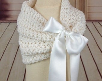 White Flower Girl Shawl Shrug Bolero Shoulder Wrap First Communion Shawl Jr Bridesmaid Shoulder Cover Available In 17 Colors