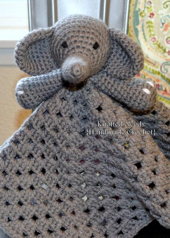 Crochet Elephant Lovey by KnottedNeeds on Etsy - photo#11