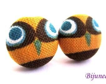 Owl earrings - Brown owl earrings - Brown Owl studs - Owl stud earrings - Brown Owl posts - Owl post earrings sf1104