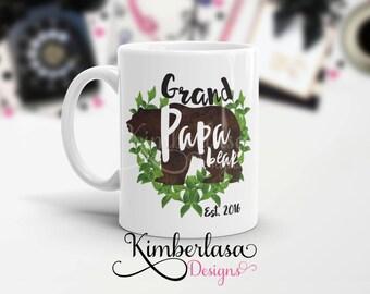 grand papa bear mug | father's day gift | pregnancy reveal | dad mug | grandpa mug | gifts for dad | father mug | bear mug | 11 oz mug