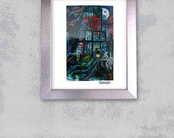 8x10 Batman VS Superman, Metallic Art Print, Cover YS Magazine, Shadow of a God, by Cole Brenner, Comic Book, abstract, Pop Artist