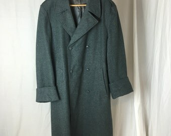 Vintage Swiss Army Trench Coat Double Breasted 1940s Medic/Surgeon