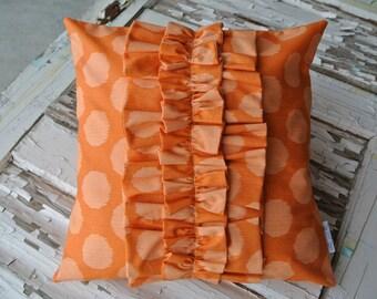 New Price!*** Ruffle Pillow- Orange