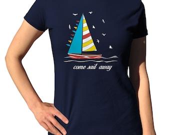 Sailboat Shirt - Nautical Tshirt - Nautical Birthday Party - Sailor Shirt - Boat Shirt - Sailing Gift - Yachting T-Shirt