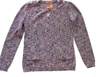 Courrèges sweater 80 s blue & white