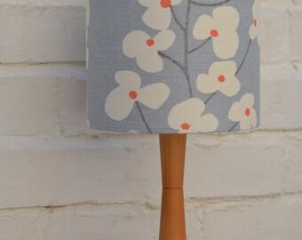 Grey lampshade, retro lamp, lighting, blue lamp shade, lampshade, blue lighting, table lamp, floor lamp, retro home, lampshade, drum lamps