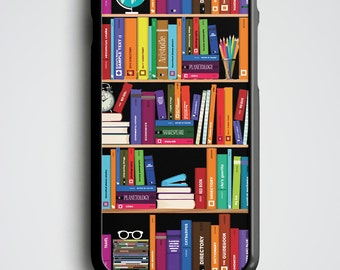 Bookshelf iPhone 6 Case, Bookshelf iPhone 5s Case, Bookshelf iPhone 6 Plus, Bookshelf iPhone 5 Case, Bookshelf iPhone 4s Case, Nerd Gift