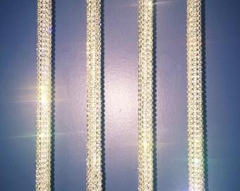 10 (ten) Rhinestone Table Number Holders Silver Crystal Wedding Sweet 16