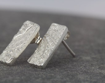 Silver earrings ~ rectangles ~ unique gift for wedding bridesmaid ~ wife anniversary ~ daughter birthday ~ unusual gift