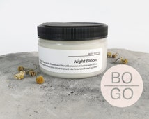 SALE Night Bloom organic whipped body butter  |  Chamomile and Orange blossom natural body butter with Shea and mango