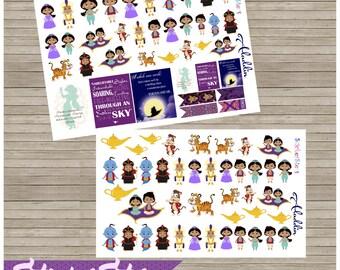Aladdin & Friends Cute Planner Stickers