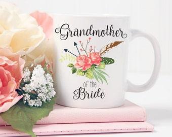 Grandmother of the Bride Mug, Grandmother of the Bride Gift, Wedding Mug, Coffee Mug, Wedding Party Gift Coffee Cup Grandma Tea Cup