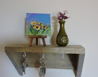 Small Painting on   4inx4in easel included ,desk art ,shelf  art