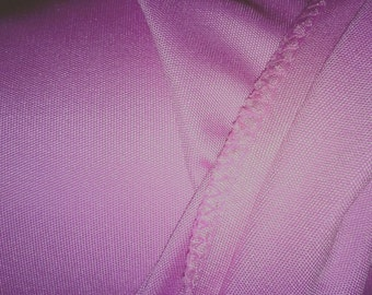 Petal Pink 100% Silk Jersey Fabric by the Yard or Meter - Solid Color Lilac Pink Medium Weight Stretchy Silk Material