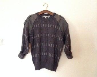 SALE Military Vintage Pullover in Dark Grey