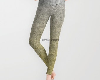 Silver and Gold Glitter Gradient Leggings, Available in 5 Sizes!