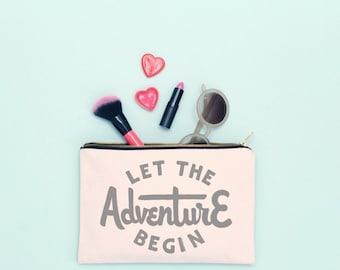 Zip Wallet - Zipped Pouch - Travel Document Holder - Travel Wallet - Passport Pouch - Travel Gifts - Adventure Pouch - Alphabet Bags