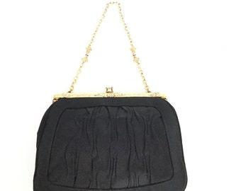 Lou Taylor Black Evening Bag Black Purse