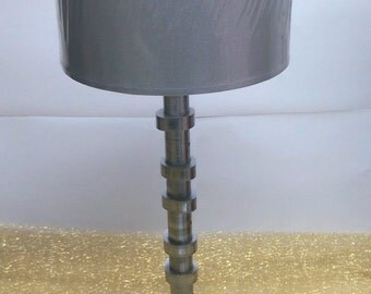 Elegant Table Lamp built with recycled car engine parts
