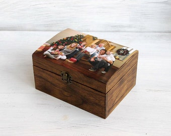 Custom Photo Keepsake Box,Personalized Wedding Box,Personalized Photo Box, Gift Box,  Picture Box,Custom Family Box,Mother's Day,Pets  Box