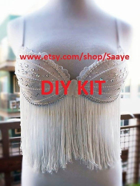 Do it yourself white fringe goddess costume bra dance rave edc do it yourself white fringe goddess costume bra dance rave edc beyond wonderland tomorrowworld countdown nye festival diy outfit wear from saaye on etsy solutioingenieria Gallery