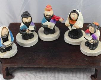 5 Jewish Fimo Figurines
