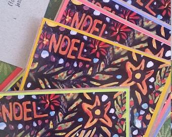 Noel card set of 4