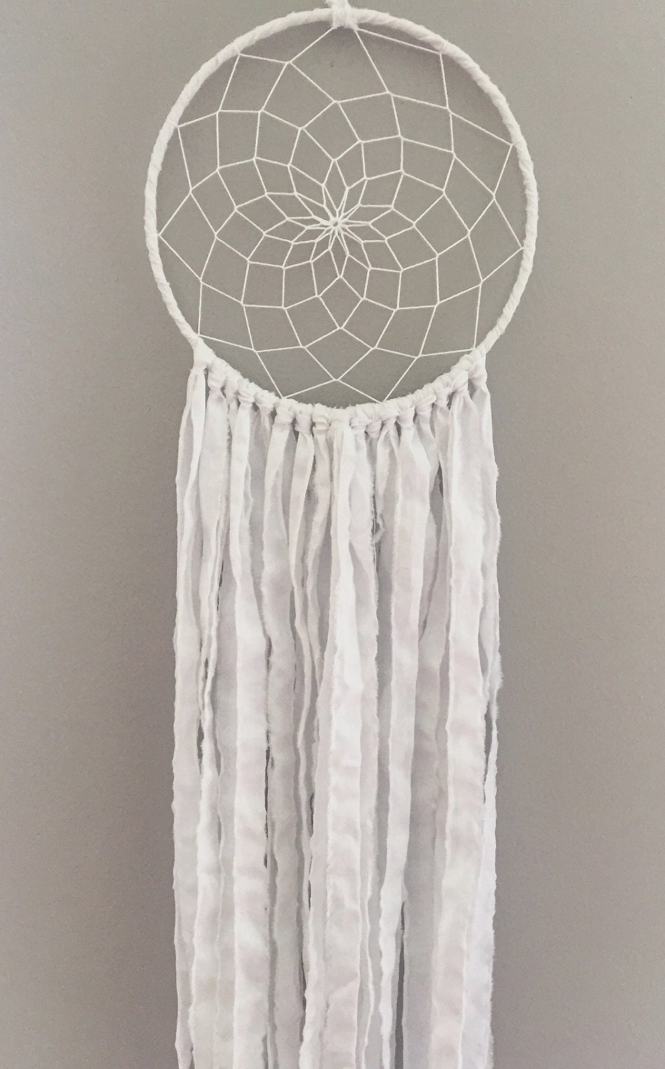 White Dream Catcher Bohemian Dream Catcher Bohemian Wall
