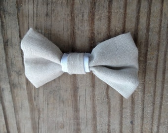 Khaki and White bowtie