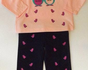 "Set girl T-Shirt + Pants/Two parts for Toddler Girl ""Les Koalas Bleus"" - ""The Blue Koalas"""